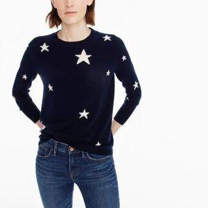 J.Crew Everyday 100%Cashmere Sweater Star Print XL